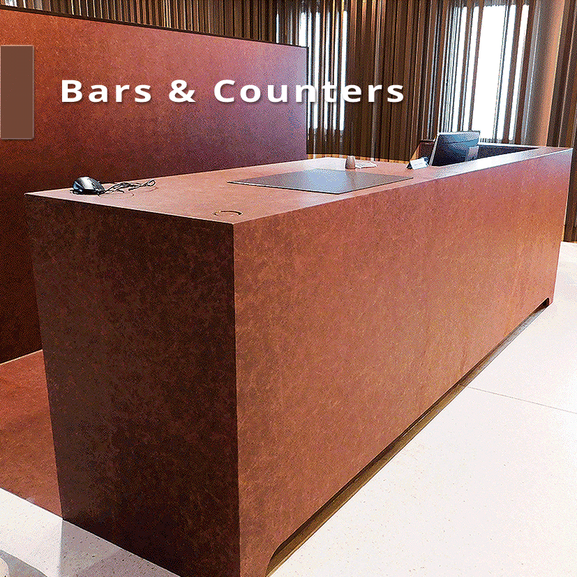 Leathercovering Bars and Counters