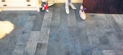 VINTAGE leatherflooring blue graphite