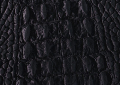 Cayman Black leather flooring and leather wall-covering