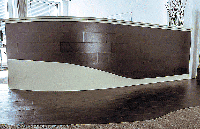 Counter with genuie leather