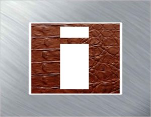 Info Icon Leather