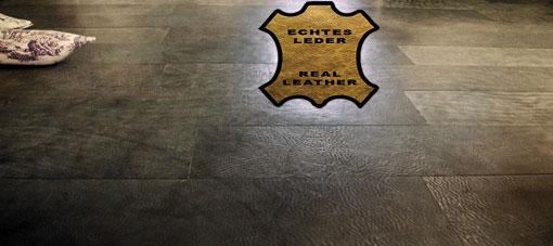 Leatherflooring VINTAGE real leather