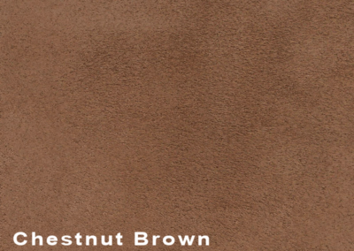 Collection Suede Chestnut Brown leatherflooring and leather wall-covering