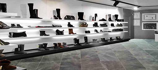 Leatherflooring shoestore