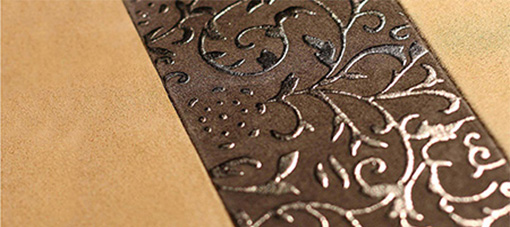 Suede leatherflooring with ornaments