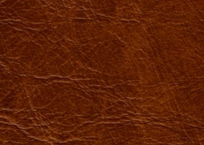 Cognac leatherflooring and leather wall-covering