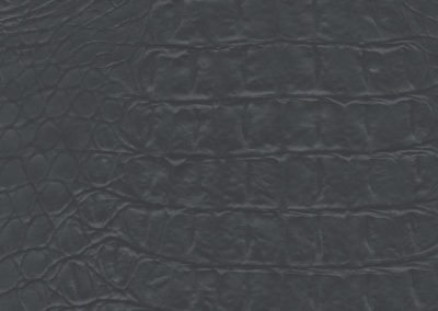 Croco Anthracite leatherflooring and leather wall-covering