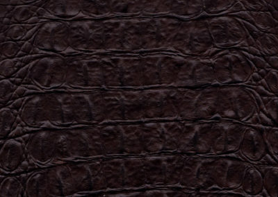 Croco Dark-Brown leatherflooring and leather wall-covering