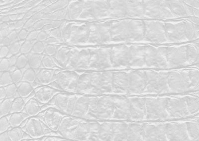 Croco White leatherflooring and leather wall-covering